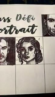 armonyann: dessin au stylo bic: defi portrait, de renanta des...
