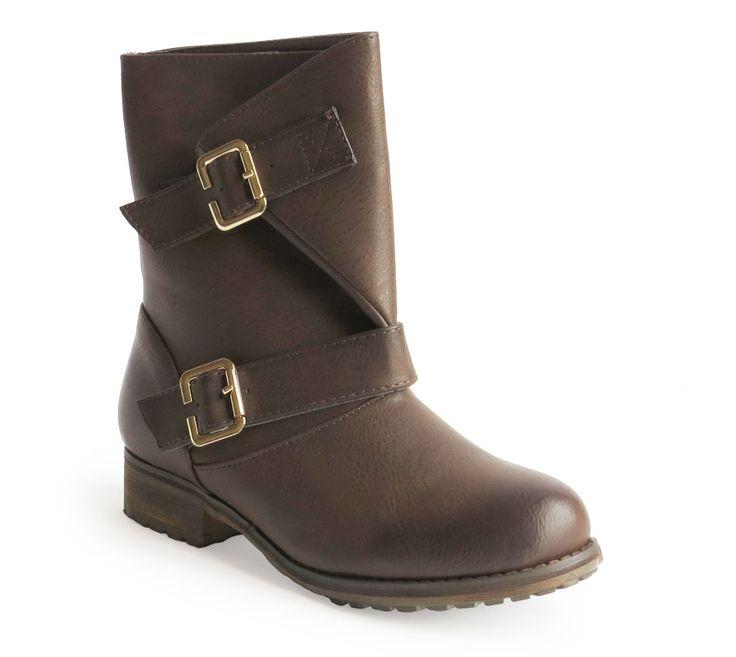 botas con dos hebillas marrón 29,90€ www.calzadospayma.com