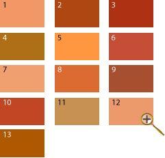 Оранжевые оттенки для цветотипа лето 1 оранжево-розовый цвет 2 темно-оранжевый цвет 3 рыжий цвет 4 сиена цвет 5 последний вздох жако 6 медный цвет 7 персиковый цвет 8 золотисто-медный цвет 9 охра красная 10 кирпичный цвет 11 цвет телесный 12 цвет пудры 13 карамельный цвет  Некоторые считают, что оранжевый не идет цветотипу «лето». Но это не так. Его оттенки с добавлением синего, белого, коричневого, красного – все подойдут не контрастной внешности.
