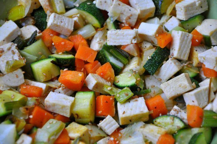 Tofu dusené so zeleninou