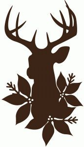 winter deer silhouette - Google Search