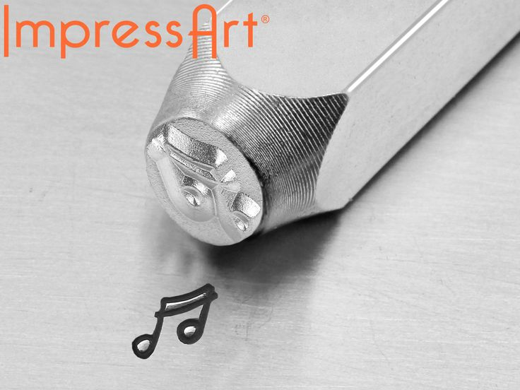 Poinçon Impressart, motif Notes de musique, 6 mm - cookson-clal.com