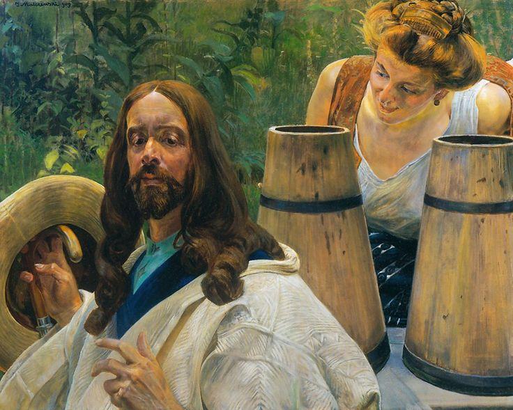 Christ and Samaritan Woman - Jacek Malczewski
