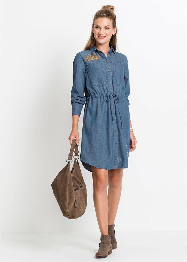 0879961ff6 Hosszú ujjú farmerruha • kék • bonprix áruház   Ruha   Dresses ...