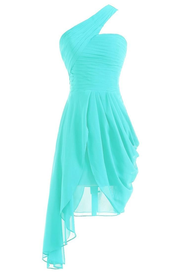 Sunvary 2013 New One Shoulder Chiffon Cocktail Party Dresses Homecoming Dresses