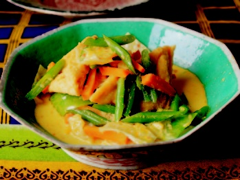 Tofu and Summer Vegetables in Coconut Milk (recipe from chef James ...