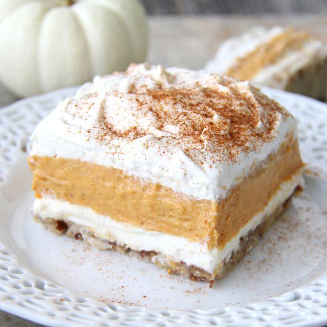Pumpkin elight Dessert {A Pretty Life}F