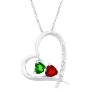 Personalized Diamond 2-Stone Birthstone Heart Pendant In White Gold #Christmas 2016 #Jewelry #Personalized #Unique #Simple #Gifts @ Gemologica.com #Xmas #Gift guide finder ideas for #Him #Her #Kids #Jewellery #couponcode #deals #sale Stocking Stuffer #Ideas. #Presents for girlfriends, boyfriends, children, men, women from the #Gemologica Jewelry Store. #Earrings #Rings #Necklaces #Bracelets #Gold #Silver #Fashion #Style