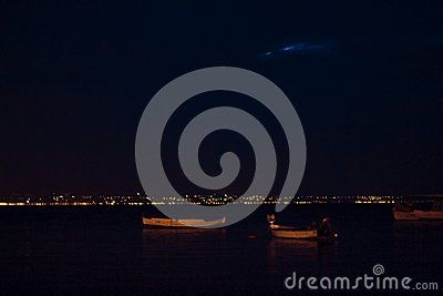 Amazing night lights in aretsou, Thessaloniki Greece