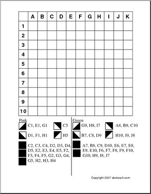 Grid Coloring: Tulip - Follow the directions and color the grid to make the shape of a tulip. Grid coloring is great for developing early map skills.