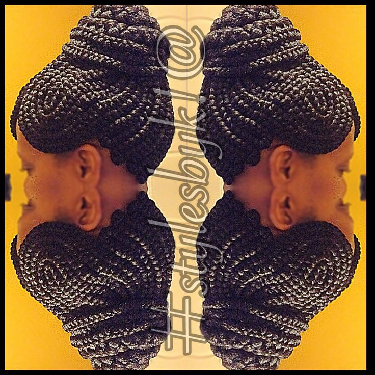Close Together Braid Updo Using Xpressions Braiding Hair