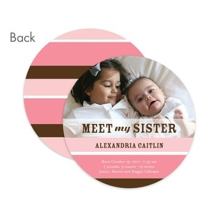 baby girl sibling announcement