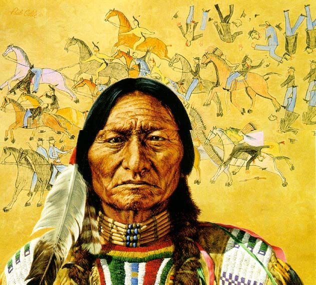 Sitting Bull S Vision Painting