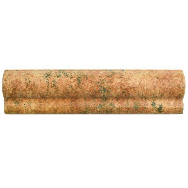 SomerTile 2x7.875-inch Gavras Marron Moldura Ceramic Trim Wall Tile (Pack of 10)