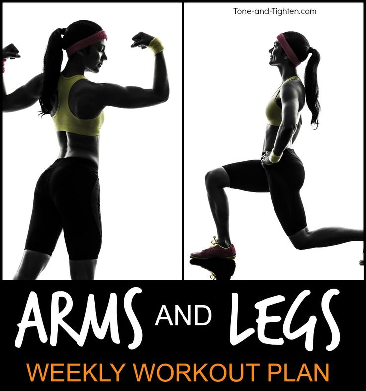 6 great arms and legs workouts to tone and tighten the extremities! From Tone-and-Tighten.com