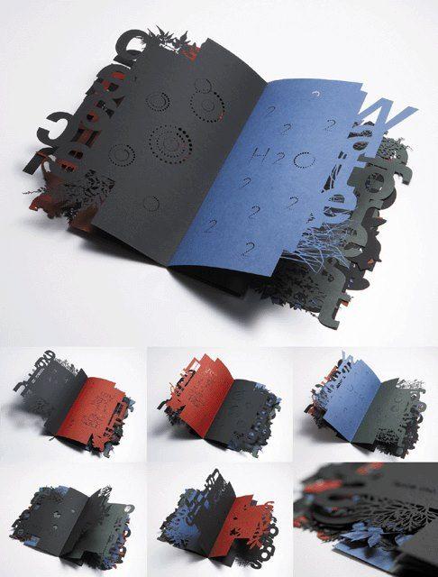 Forest of typographic design ECO MESSAGE. Book, 2008 designed by TDCTokyo art director Toshiyasu Nanbu