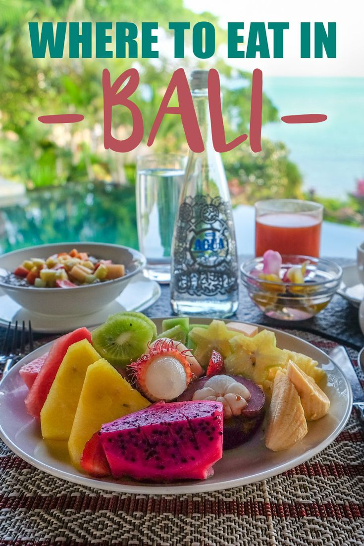 Where to Eat in Bali: Indonesian food is served fresh and will get you salivating—think rich and spicy satay, curry, nasi goreng, and gudeng. The best meal of the day is breakfast—it's cheap and delicious, and cafés are everywhere you look. But be prepared for mind-blowing sunset dinners with exquisite views while in Bali!