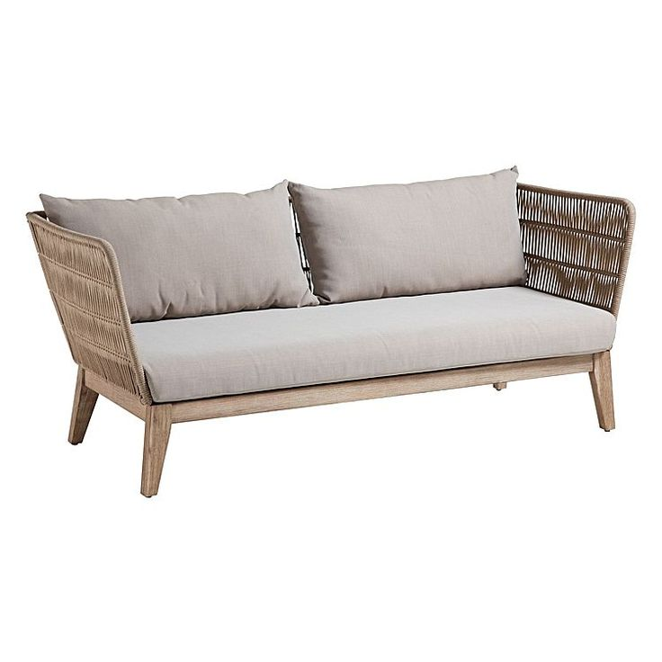 Enjoy the warm weather in the company of friends with the resilient Beuna 3 Seater Outdoor Sofa from Vida & Co.