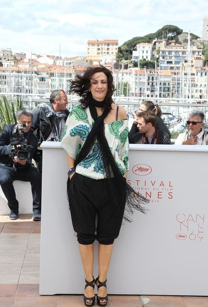 "Israeli director Maha Haj poses on May 12, 2016 during a photocall for the film ""Omor Shakhsiya (Personal Affairs)"" at the 69th Cannes Film Festival in Cannes, southern France.  / AFP / Valery HACHE"