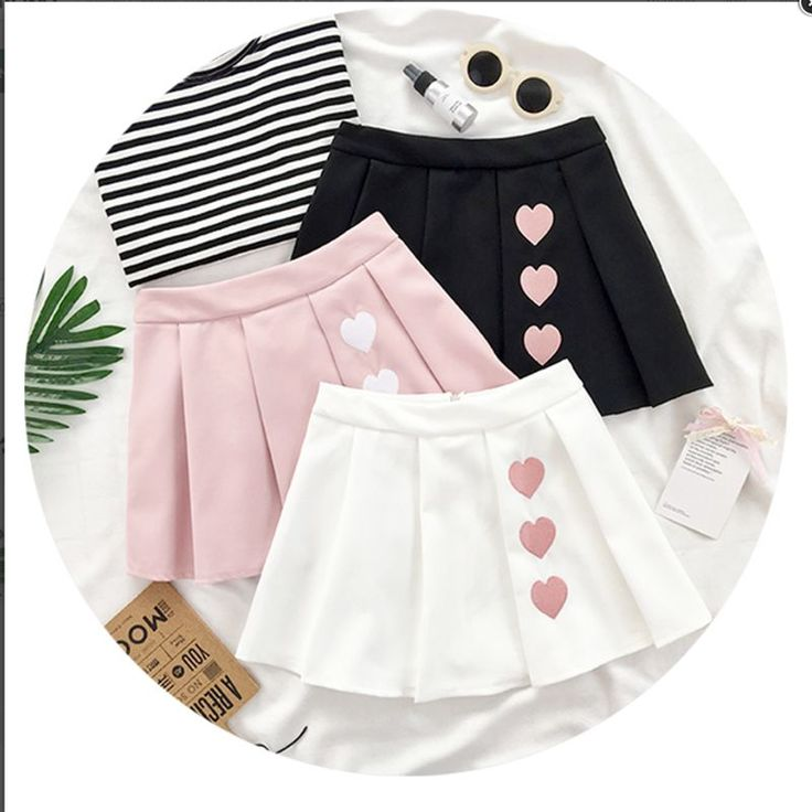 Cute heart kawaii skirt YV2017