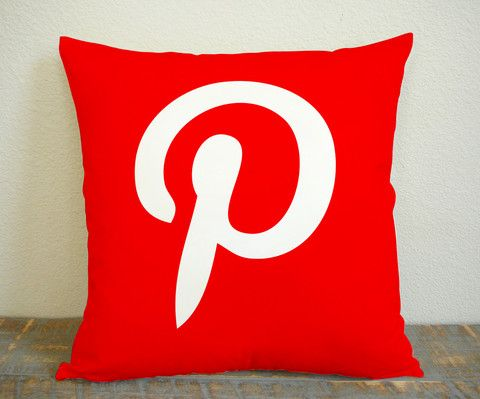 Pinterest Pillow Logo Pillow Case, Pillow Decoration, Pillow Cover, 16 x 16 Inch One Side, 16 x 16 Inch Two Side, 18 x 18 Inch One Side, 18 x 18 Inch Two Side, 20 x 20 Inch One Side, 20 x 20 Inch Two Side