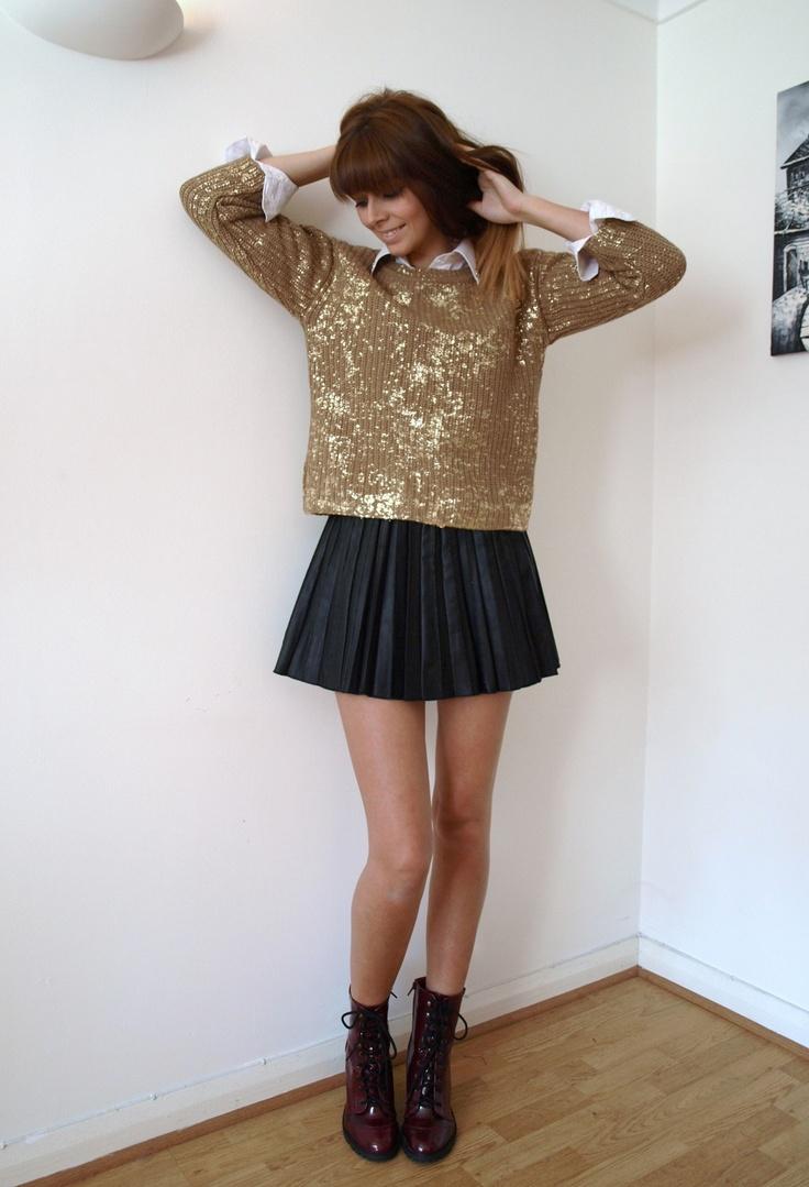 Punkrock Schoolgirl  , Primark in Boots, Primark in Sweaters, Primark in Skirts, Primark in Shirt / Blouses