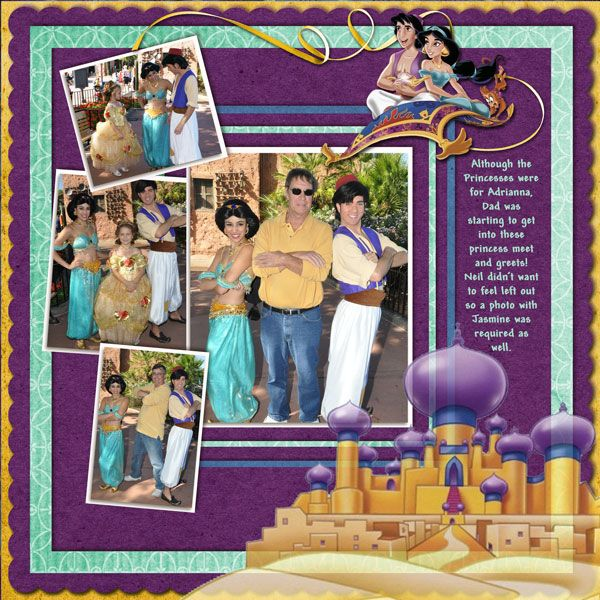 Meeting Jasmine and Aladdin - MouseScrappers - Disney Scrapbooking Gallery