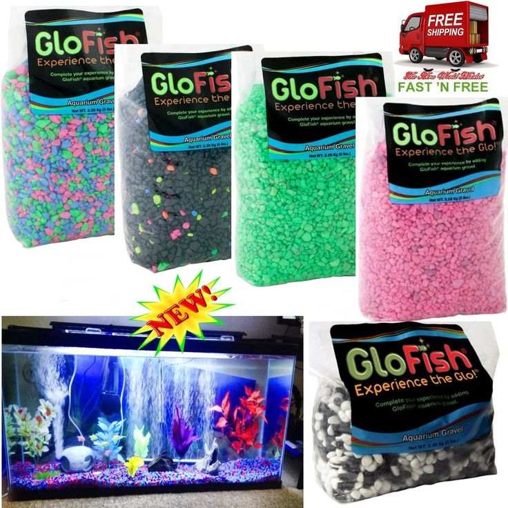 5 POUND GloFish AQUARIUM GRAVEL STONE FISH TANK DECOR FLUORESCENT COLORFUL PLANT #GloFish
