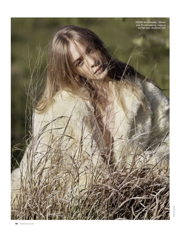 Veranika Antsipava Looks Ethereal in Outdoor Styles for ELLE Russia