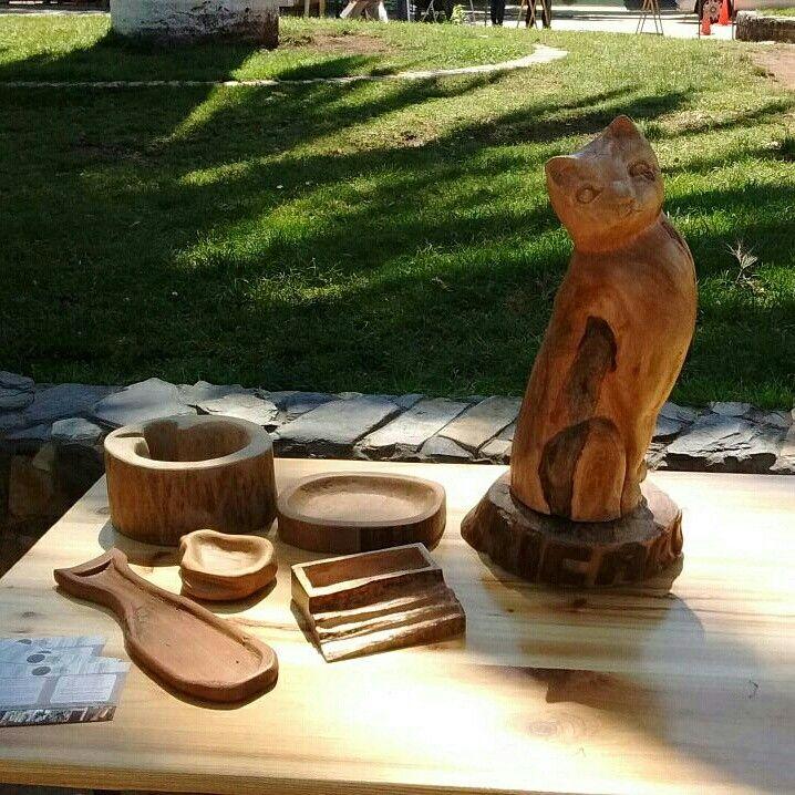 Mi escultura en una feria de exposición