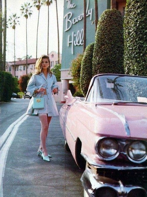Pink Cadillac ** I never met a convertible that I didn't like!  **  http://thedecorista.tumblr.com/post/8308599320 ** #pink #cadillac #convertible