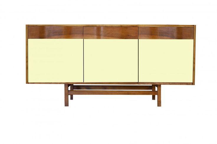 """Pastelowa komoda """"Gropius"""" Color III od New Mono Design, żółty kanarek, więcej na: www.newmonodesign.pl"""