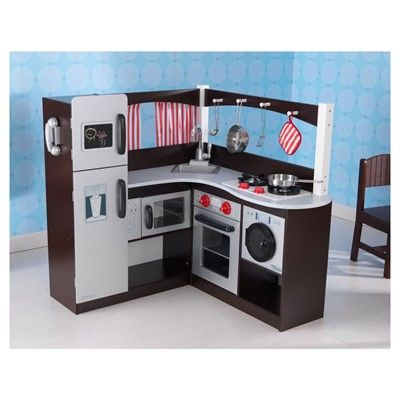 big w kidkraft grand espresso corner kitchen day care play shops imaginative play. Black Bedroom Furniture Sets. Home Design Ideas