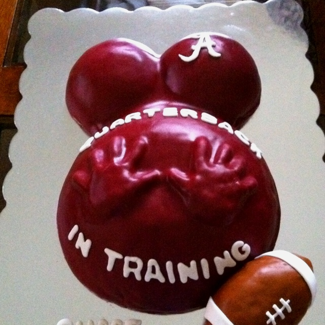 Alabama baby shower cake