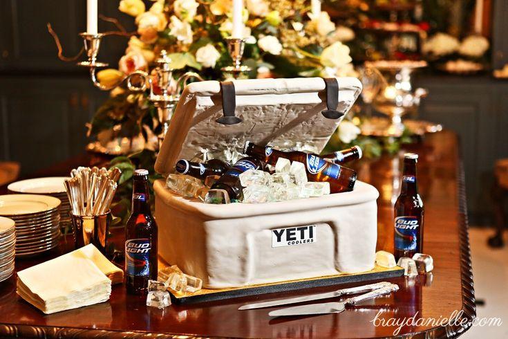 Grooms Cake Beer Cooler - Yeti