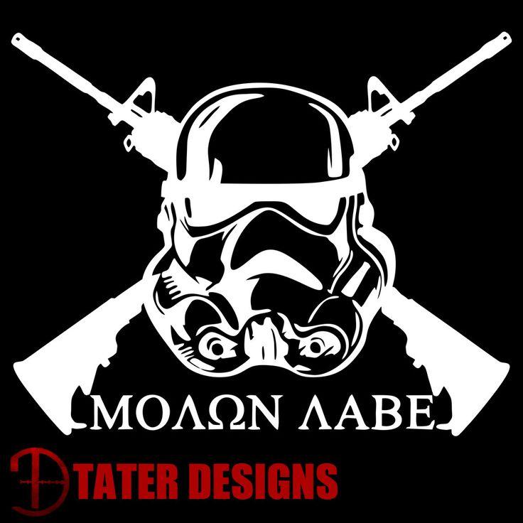 Trooper Molon Labe Decal