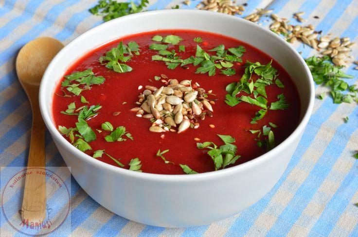 Kulinarne Szaleństwa Maniusi: Zupa krem z buraków i warzyw