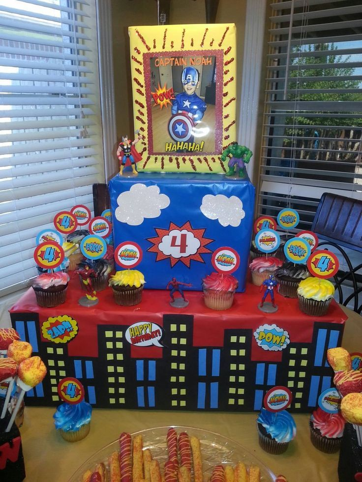 diy super hero cardboard cupcake stand - Google Search