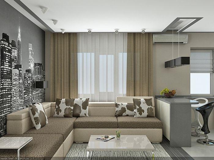 Дизайн однокомнатной квартиры. 50 различных вариантов - Сундук идей для вашего дома - интерьеры, дома, дизайнерские вещи для дома