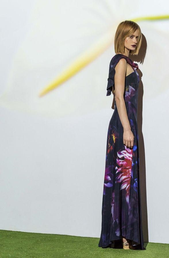 black magic viscose la fleur gown. www.biancaspender.com