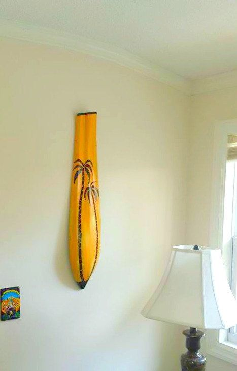 Beach House Decor Painted Palm Tree Palm Frond Art by IntoTheTrees