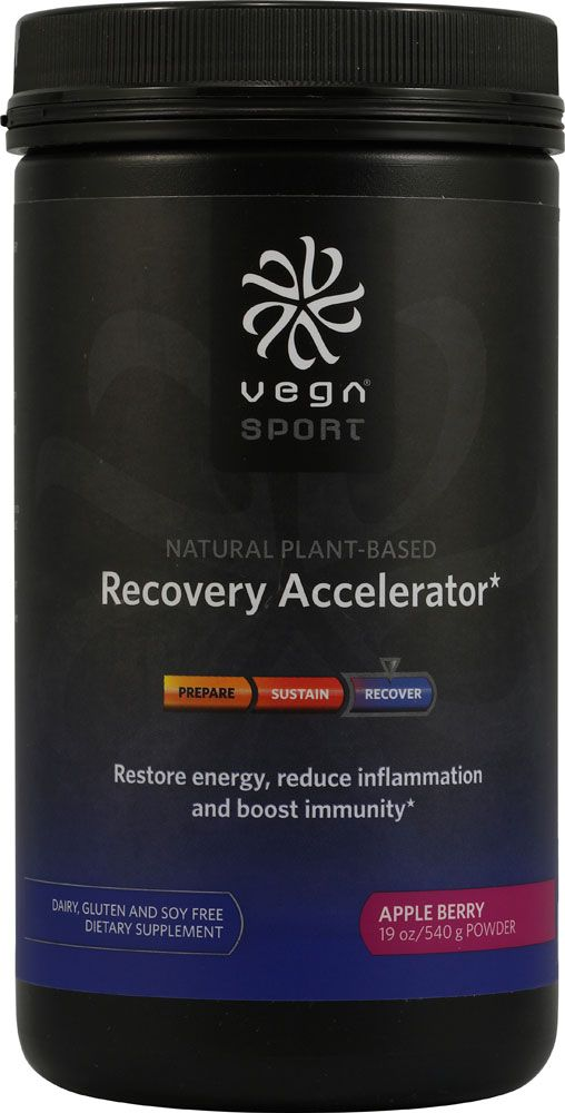 Vega Sport 'Recovery Accelerator' Apple Berry - Soy/Dairy/Gluten Free I The BEST post-workout supplement. No soreness or tightness in any of my muscles. Most Vega Sport products are 40-50% off at Whole Foods for the month of May.