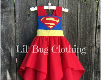 Superhero Supergirl Superman Dress, Superhero Supergirl Superman Costume, Superhero Birthday Party, Boutique Girl Clothes Dress Up
