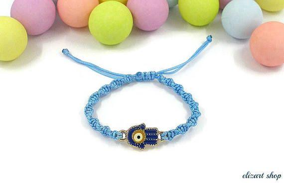Evil eye baby bracelet hamsa baby bracelet toddler bracelet
