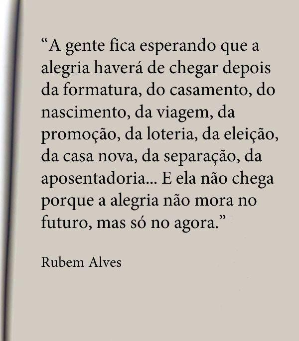 A alegria - Rubem Alves