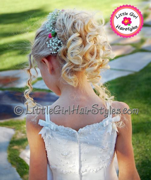 Darling little girl hairstyles including updos you can do at home!