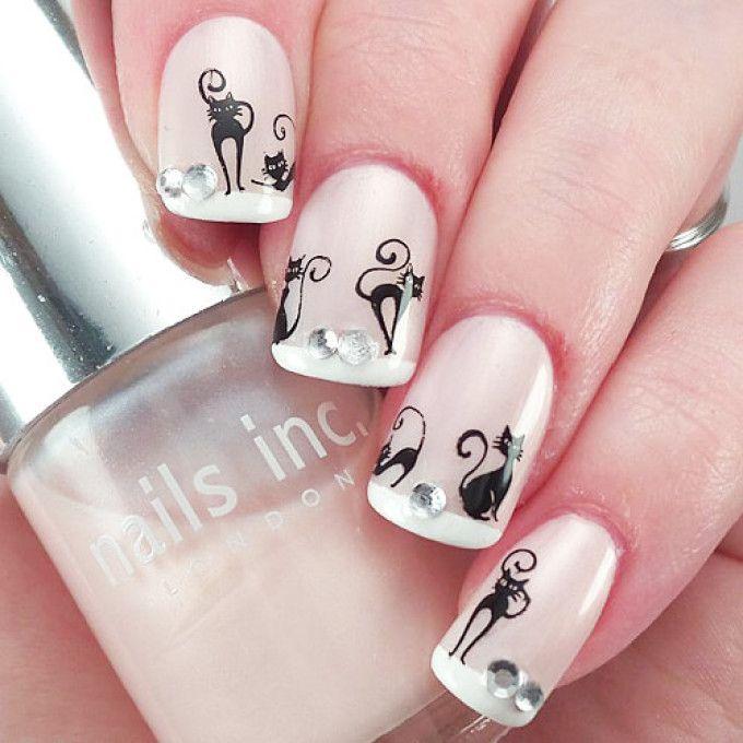 Маникюр с кошками на ногтях: дизайн, фото. Как нарисовать кошку на ...