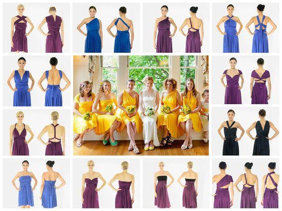 Vestido de Infinity 27 colores Corto convertible vestido giro para la boda de dama de honor de cóctel