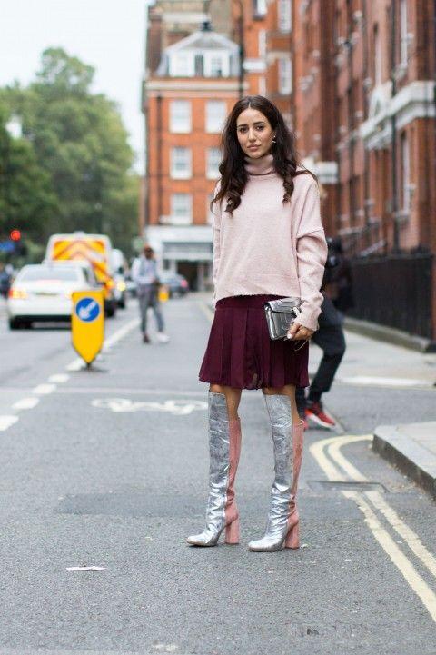 Street style at London fashion week spring / summer 2017