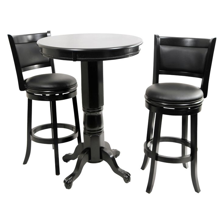 boraam augusta 3 piece pub table set black sandthru